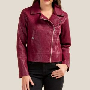 MARY QUILTED SLEEVE MOTO JACKET